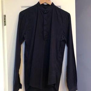 Zara collarless shirt